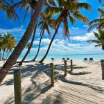 Beach and Palm Trees in Key West