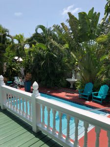 Pool view of the Hibiscus Double Queen Room