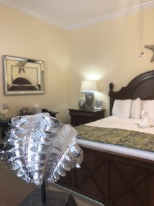 Conch shell in the Master King Suite