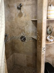 Shower in the Petite Queen Bedroom